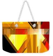 Abstract Tan 5 Weekender Tote Bag
