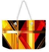 Abstract Tan 7 Weekender Tote Bag