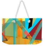 Abstract Tan 8 Weekender Tote Bag
