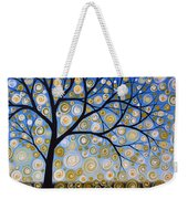 Abstract Tree Nature Original Painting Starry Starry By Amy Giacomelli Weekender Tote Bag