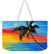 Abstract Tropical Palm Tree Painting Tropical Goodbye By Madart Weekender Tote Bag