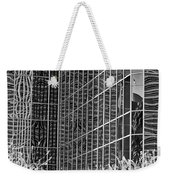 Abstract Walls Black And White Weekender Tote Bag