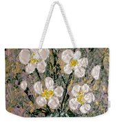 Abstract Wild Roses Heavy Impasto Weekender Tote Bag
