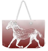 Abstract Wild Running Horse  Weekender Tote Bag