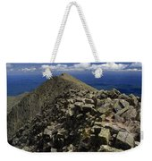 Abutting The Clouds, Hikers Rest Atop Weekender Tote Bag