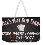 Ace's Hot Rod Shop Weekender Tote Bag by Clarence Holmes