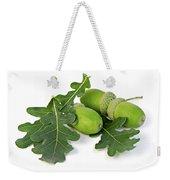 Acorns With Oak Leaves Weekender Tote Bag by Elena Elisseeva