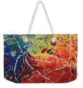 Acrylic  Poured  And  Dripped  2001 Weekender Tote Bag