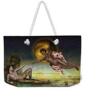 Adam Creation Revisited She Is Black Weekender Tote Bag