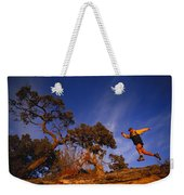Adam Lederer Trail-runs Near Dolores Weekender Tote Bag