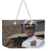 Admiral Eric Olson Speaks Weekender Tote Bag by Michael Wood