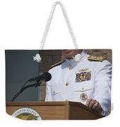 Admiral Mike Mullen Speaks Weekender Tote Bag by Michael Wood