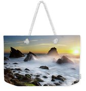 Adraga Beach Weekender Tote Bag by Carlos Caetano