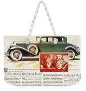 Ads: Buick, 1932 Weekender Tote Bag