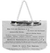Advertisement: Steamship Weekender Tote Bag