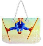 Aerial Skier 17 Weekender Tote Bag by Hanne Lore Koehler