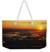 Aerial Sunset Of The Suisun Slough Weekender Tote Bag