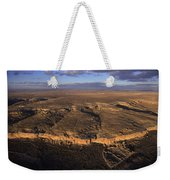 Aerial View Of Chaco Canyon And Ruins Weekender Tote Bag