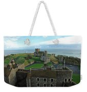 Aerial View Of Dover Castle Weekender Tote Bag