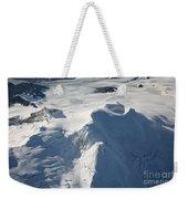 Aerial View Of Glaciated Mount Douglas Weekender Tote Bag
