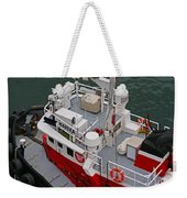Aerial View Of Red Tug  Weekender Tote Bag