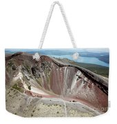 Aerial View Of Rhyolite Dome Complex Weekender Tote Bag by Richard Roscoe