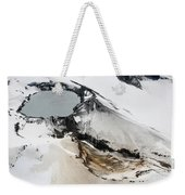 Aerial View Of Snow-covered Ruapehu Weekender Tote Bag