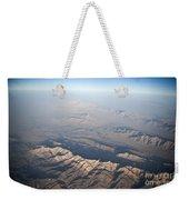 Aerial View Of The Mountainous Weekender Tote Bag