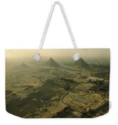 Aerial View Of The Pyramids Of Giza Weekender Tote Bag