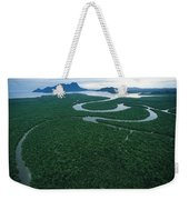 Aerial View Of The Salak River. Mount Weekender Tote Bag