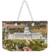 Aerial View Of Utah State Capitol Building Weekender Tote Bag by Gary Whitton