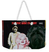 Affenpinscher Some Like It Hot Movie Poster Weekender Tote Bag