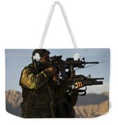 Afghan National Army Commandos Aim Weekender Tote Bag