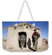 Afghan National Army Soldier Holds Weekender Tote Bag
