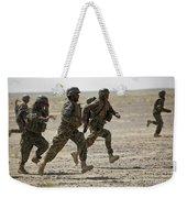 Afghan National Army Soldiers Run Weekender Tote Bag