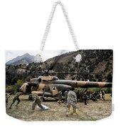Afghan National Army Soldiers Unload Weekender Tote Bag