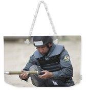 Afghan Police Student Prepares Weekender Tote Bag