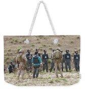 Afghan Police Students Listen To U.s Weekender Tote Bag