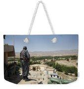 Afghan Policeman Standing Weekender Tote Bag