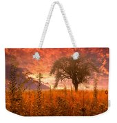 Aflame Weekender Tote Bag by Debra and Dave Vanderlaan