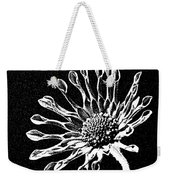 African Daisy In Black And White Weekender Tote Bag