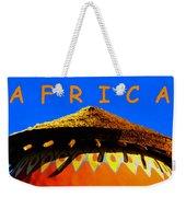 African Dwelling Weekender Tote Bag
