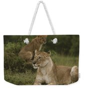 African Lionesses In Masai Mara Weekender Tote Bag