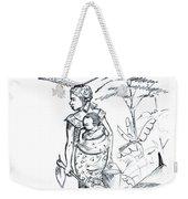African Rural Woman Weekender Tote Bag