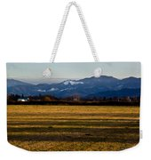 Afternoon Shadows Across A Rogue Valley Farm Weekender Tote Bag