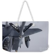 Air Refueling A F-15e Strike Eagle Weekender Tote Bag by Daniel Karlsson