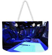 Air Traffic Controller Stands Watch Weekender Tote Bag