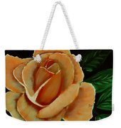 Airbrushed Coral Rose Weekender Tote Bag