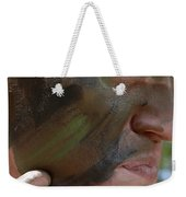 Airman Applies War Paint To His Face Weekender Tote Bag