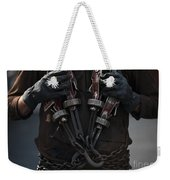 Airman Carries Aircraft Tie-down Chains Weekender Tote Bag